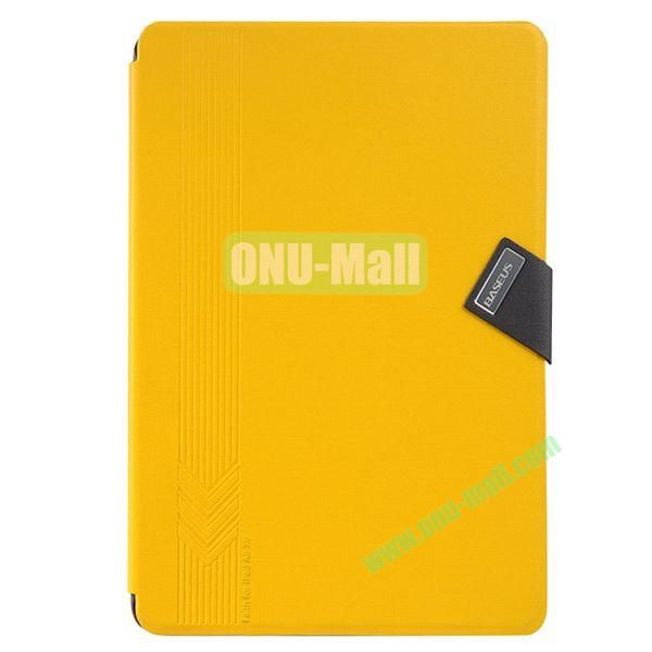 Baseus Brand Leather Cover for iPad Air with Stand and Belt Buckle (Yellow)