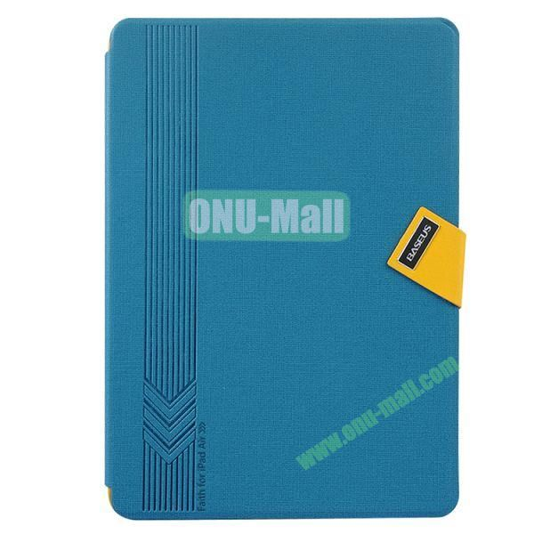 Baseus Brand Leather Cover for iPad Air with Stand and Belt Buckle (Blue)
