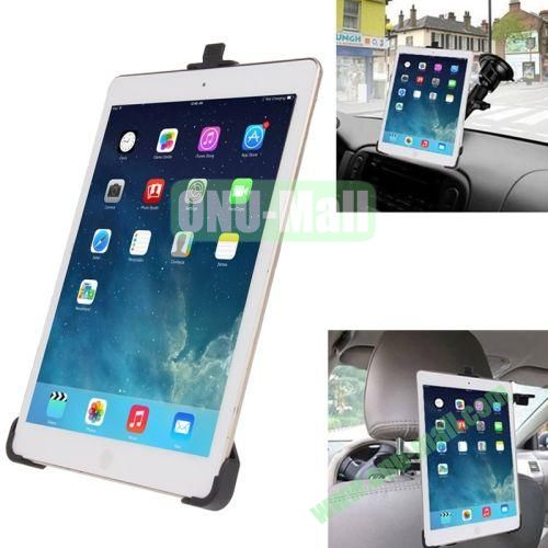 360 Degree Rotation Rear Seat Holder  Double-used Suction Cup Holder for iPad Air
