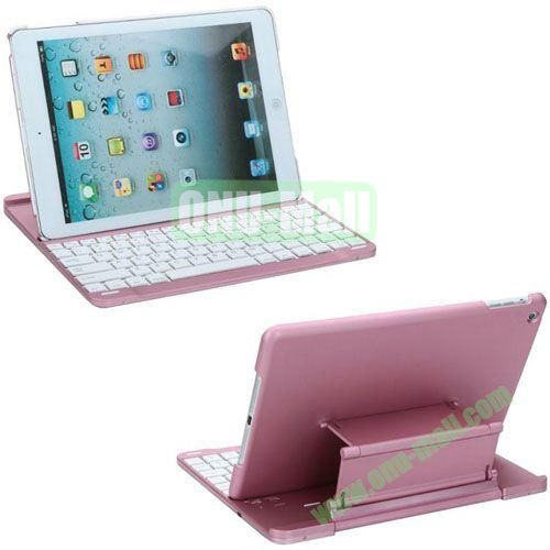 New Arrival Bluetooth Keyboard Leather Case for iPad Air (Pink)