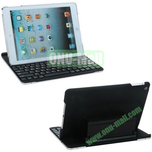 New Arrival Bluetooth Keyboard Leather Case for iPad Air (Black)