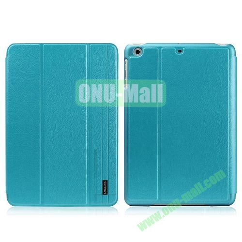 USAMS Starry Sky Series Litchee Texture 3 Folio Smart Cover for iPad Air (Blue)