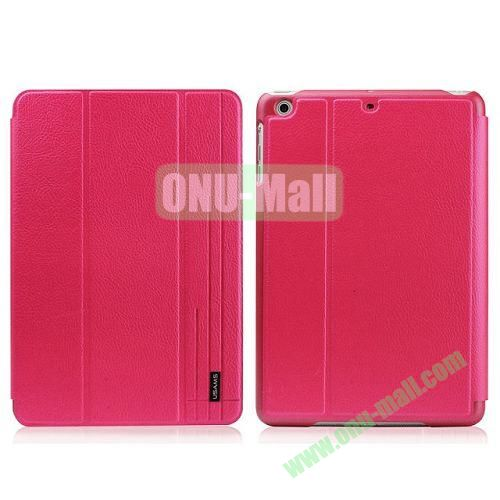 USAMS Starry Sky Series Litchee Texture 3 Folio Smart Cover for iPad Air (Red)