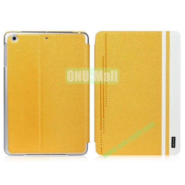 USAMS Jazz Series Cross Texture Smart Cover for iPad Air (Yellow)