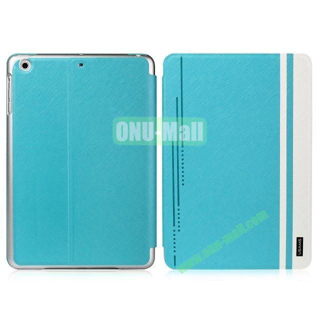USAMS Jazz Series Cross Texture Smart Cover for iPad Air (Blue)