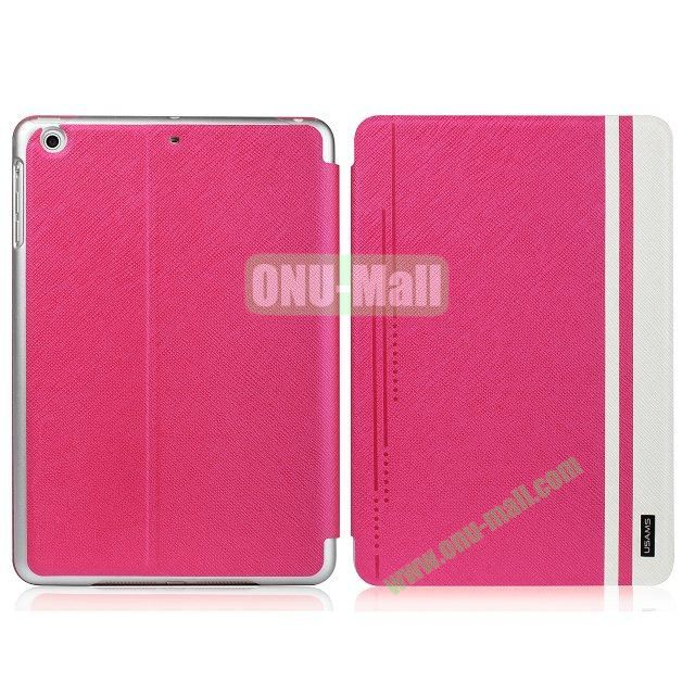 USAMS Jazz Series Cross Texture Smart Cover for iPad Air (Pink)