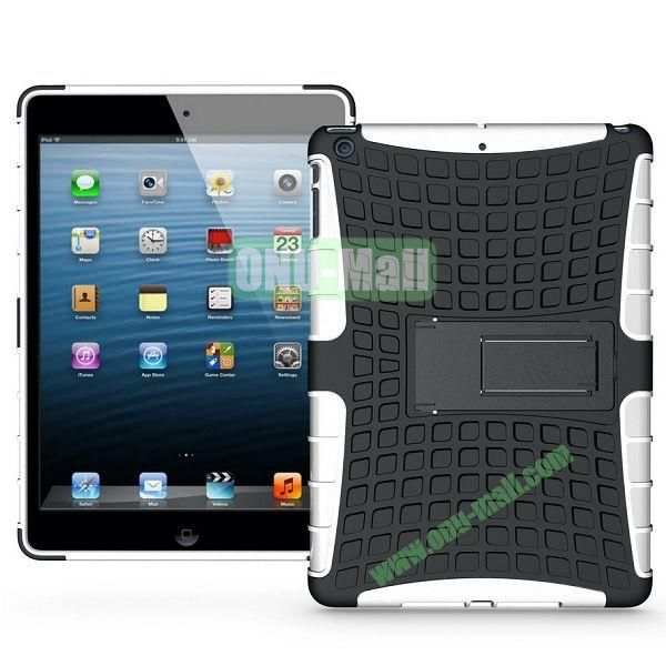 Protective PC+TPU Hybrid Case for iPad Air with Holder (White)