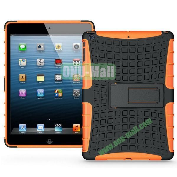Protective PC+TPU Hybrid Case for iPad Air with Holder (Orange)
