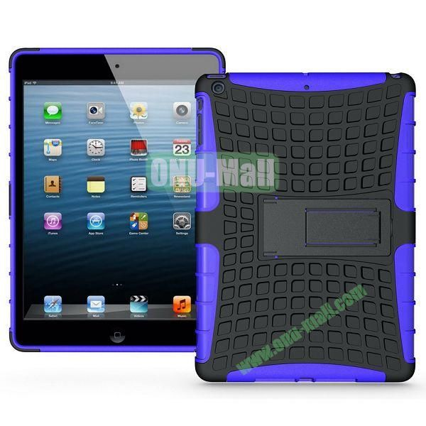 Protective PC+TPU Hybrid Case for iPad Air with Holder (Purple)