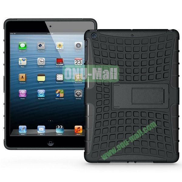 Protective PC+TPU Hybrid Case for iPad Air with Holder (Black)