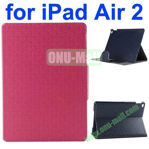 New Arrival Maze Pattern Flip PU Leather Case for iPad Air 2 iPad 6 with Stand and Card Slots (Rose)