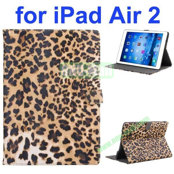 New Arrival Leopard Print Pattern Flip Leather Case for iPad Air 2iPad 6 (Yellow)