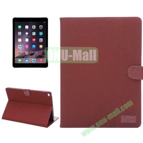 Smart Sleep  Wake-up Function Canvas Texture Flip Leather Case for iPad Air 2 with Holder and Card Slots (Red Wine)