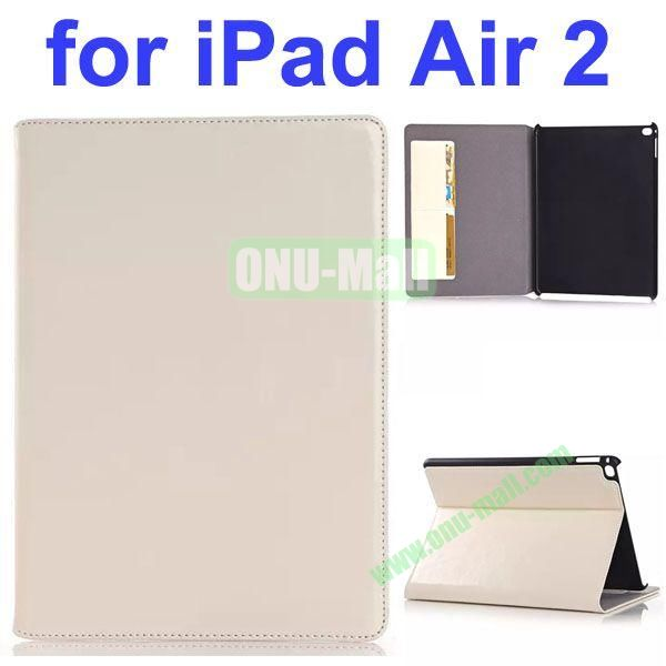 Crazy Horse Texture Genuine Leather Case for iPad Air 2 (White)