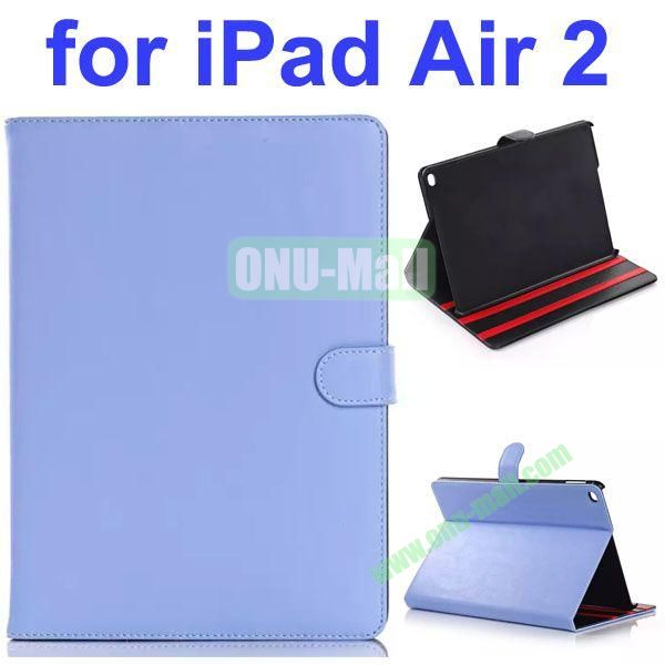 Retro Pattern Smooth Texture PU Case for iPad Air 2 with Gears (Blue)