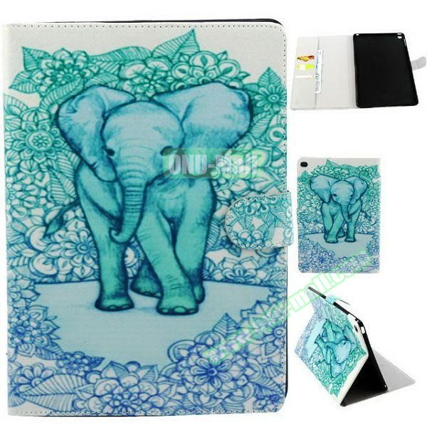 Personalized Design Flip Pattern PU Leather Case for iPad Air 2 with Magnetic Closure (Elephant)