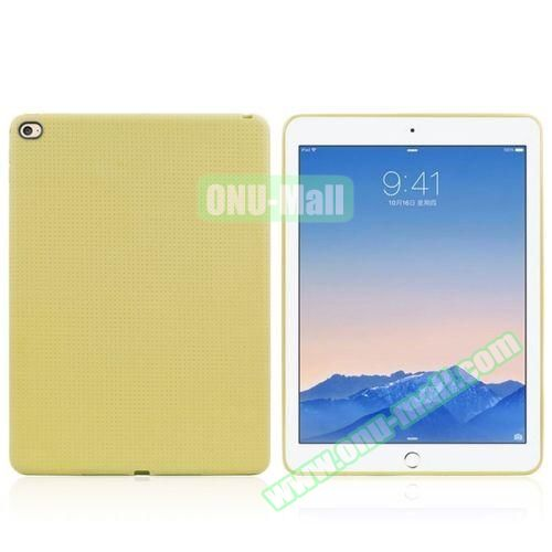 Honeycomb Pattern TPU Case for iPad Air 2 (Yellow)