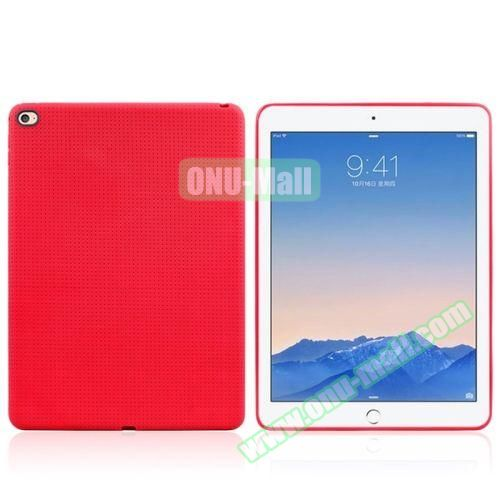 Honeycomb Pattern TPU Case for iPad Air 2 (Red)