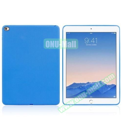 Honeycomb Pattern TPU Case for iPad Air 2 (Blue)