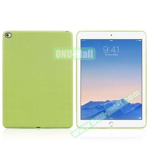 Honeycomb Pattern TPU Case for iPad Air 2 (Green)
