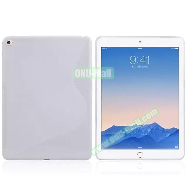 S Line Soft TPU Case for iPad Air 2 (White)