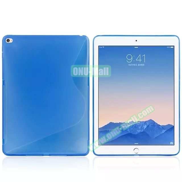 S Line Soft TPU Case for iPad Air 2 (Blue)