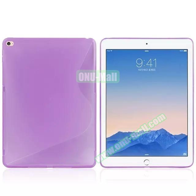 S Line Soft TPU Case for iPad Air 2 (Purple)