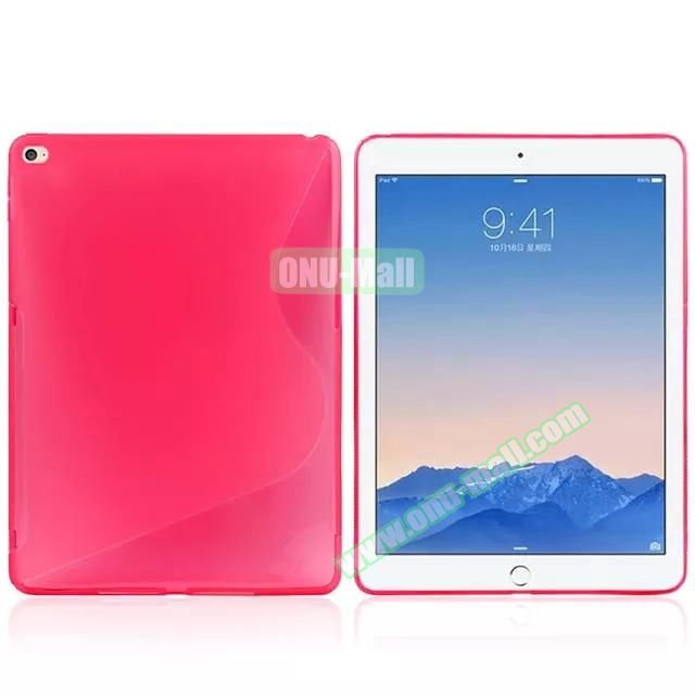 S Line Soft TPU Case for iPad Air 2 (Rose)