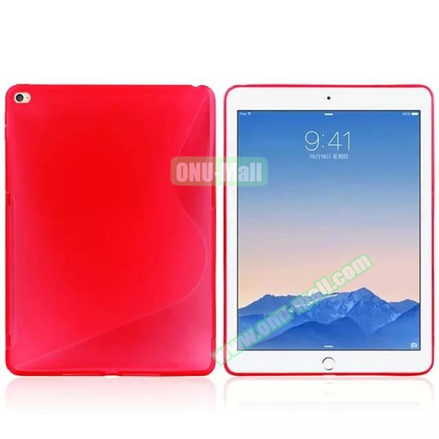 S Line Soft TPU Case for iPad Air 2 (Red)