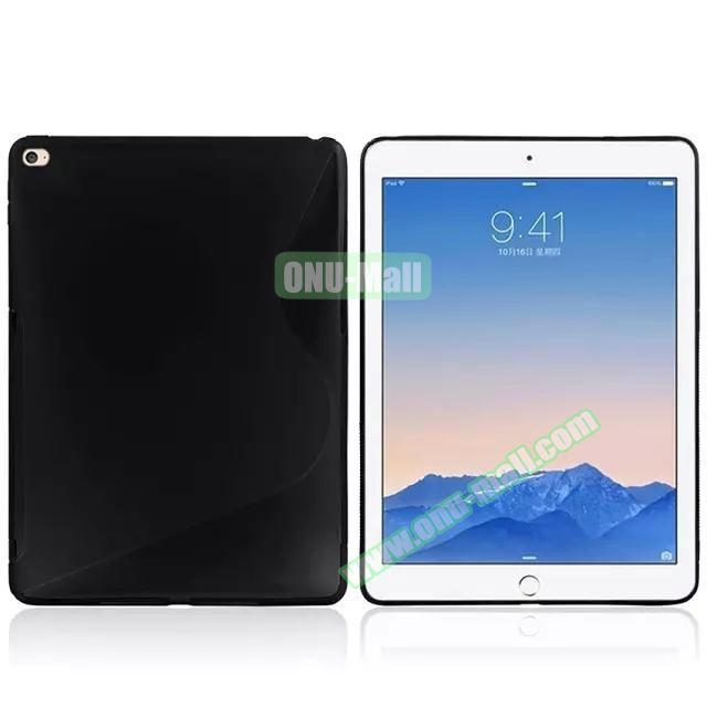 S Line Soft TPU Case for iPad Air 2 (Black)