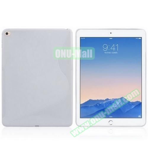 S Line Design Anti-slip Frosted TPU case for iPad Air 2 (White)