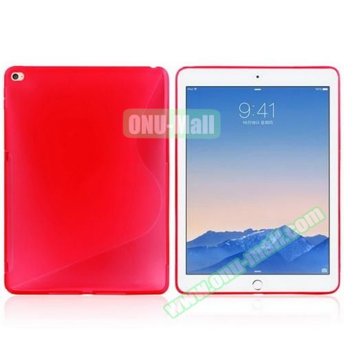 S Line Design Anti-slip Frosted TPU case for iPad Air 2 (Red)
