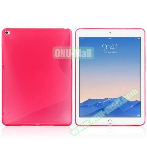 S Line Design Anti-slip Frosted TPU case for iPad Air 2 (Rose)