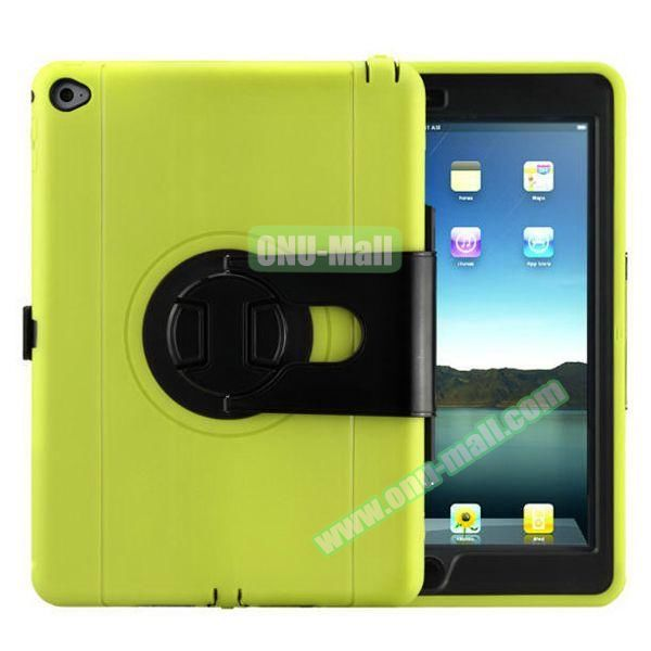360 Rotating Style Silicone and PC Case for iPad Air 2 (Green)