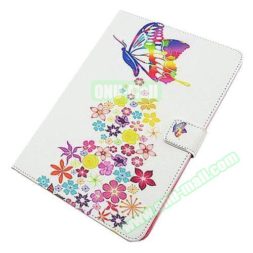 Beautiful Pattern Stand  Flip PU Leather Case for iPad Air 2 (Colorful Butterfly)