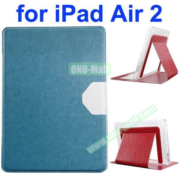 Official Style Heat Dissipation Flip Leather Case for iPad Air 2 with Stand (Green)