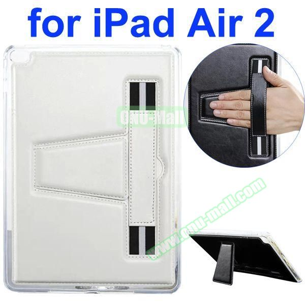 Official Style Leather Case for iPad Air 2 with Filco and Holder (White)