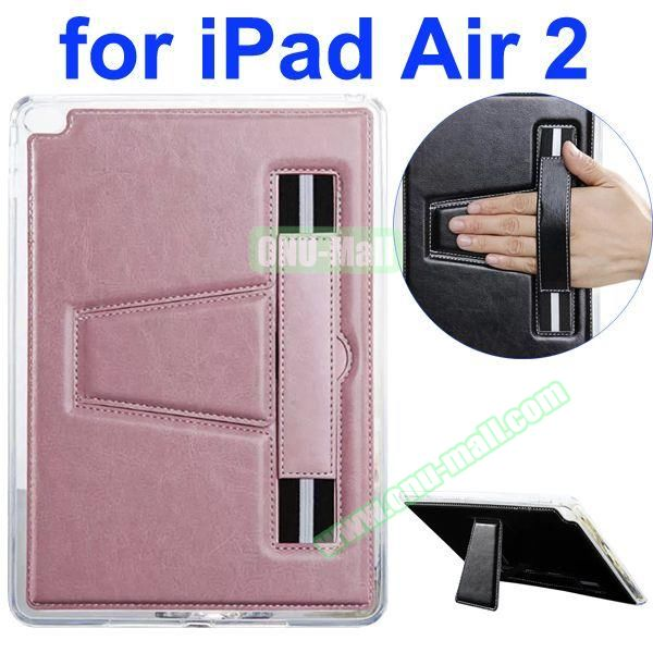 Official Style Leather Case for iPad Air 2 with Filco and Holder (Pink)