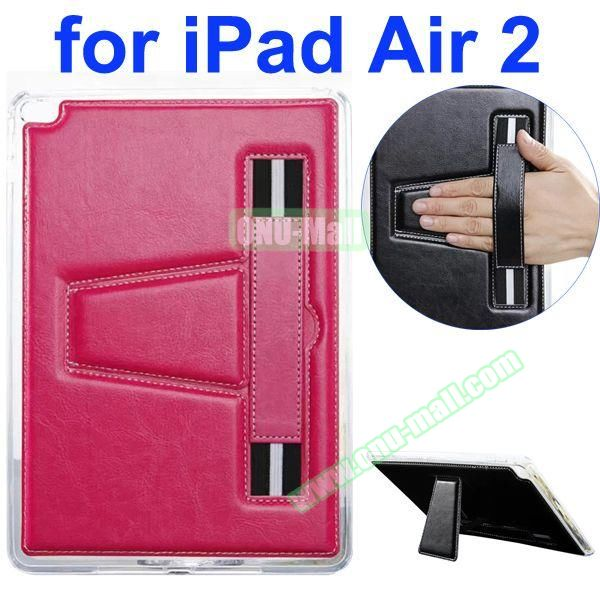 Official Style Leather Case for iPad Air 2 with Filco and Holder (Rose)