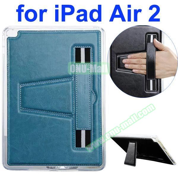 Official Style Leather Case for iPad Air 2 with Filco and Holder (Light Blue)