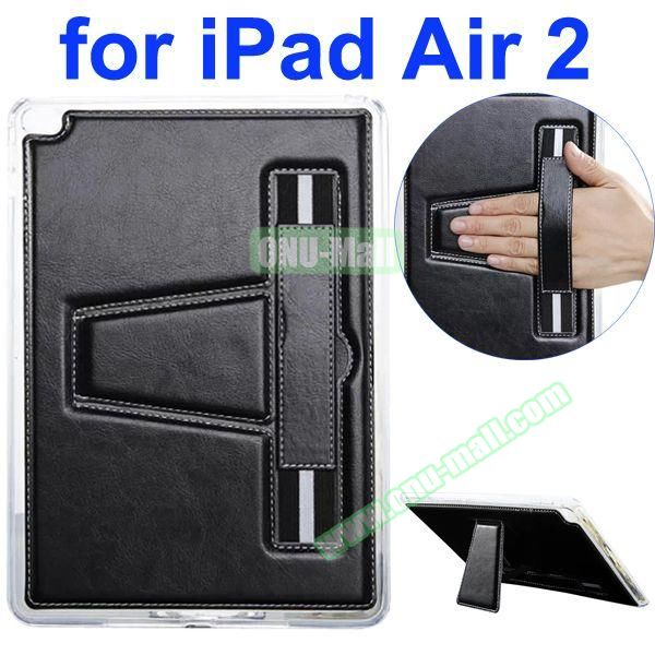 Official Style Leather Case for iPad Air 2 with Filco and Holder (Black)