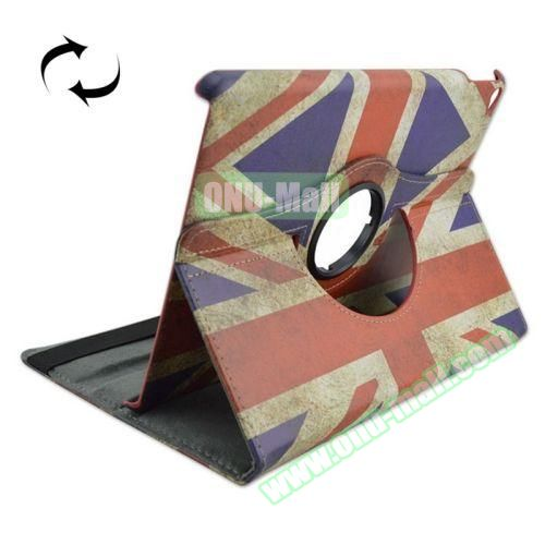 UK Flag Pattern 360 Degree Rotation Leather Case  for iPad Air 2 with 2 Gears Holder