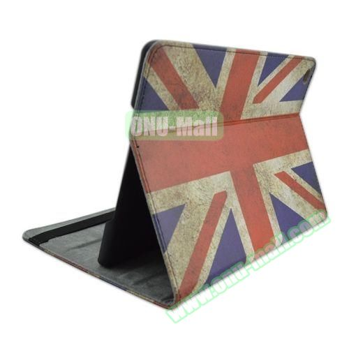 UK Flag Pattern Horizontal Flip Leather Case with 3 Gears Holder for iPad Air 2