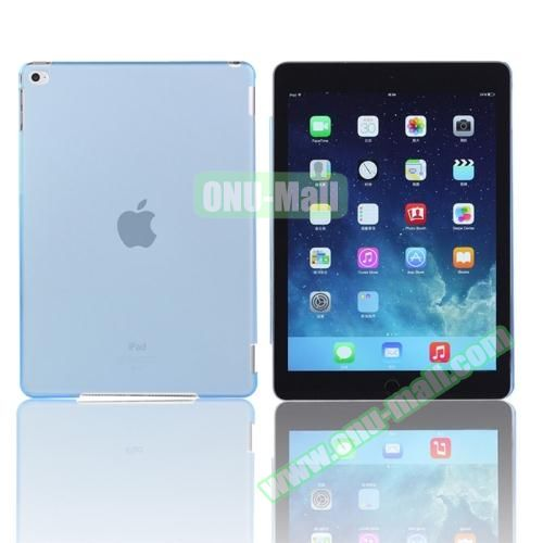 Pure Color Protective Plastic Hard Case for iPad Air 2 (Light Blue)
