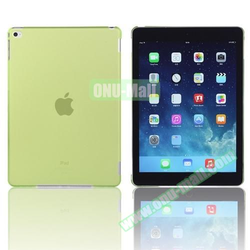 Pure Color Protective Plastic Hard Case for iPad Air 2 (Green)