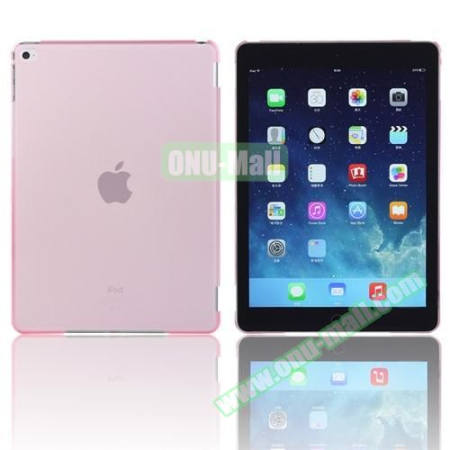 Pure Color Protective Plastic Hard Case for iPad Air 2 (Pink)