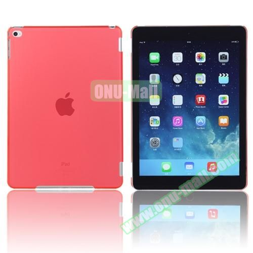 Pure Color Protective Plastic Hard Case for iPad Air 2 (Red)