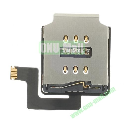 OEM SIM Card Reader Contact with Flex Cable for iPad Air