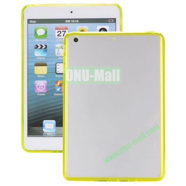 Ultrathin Transparent PC and TPU Hybrid Case Cover for iPad Air (Yellow)
