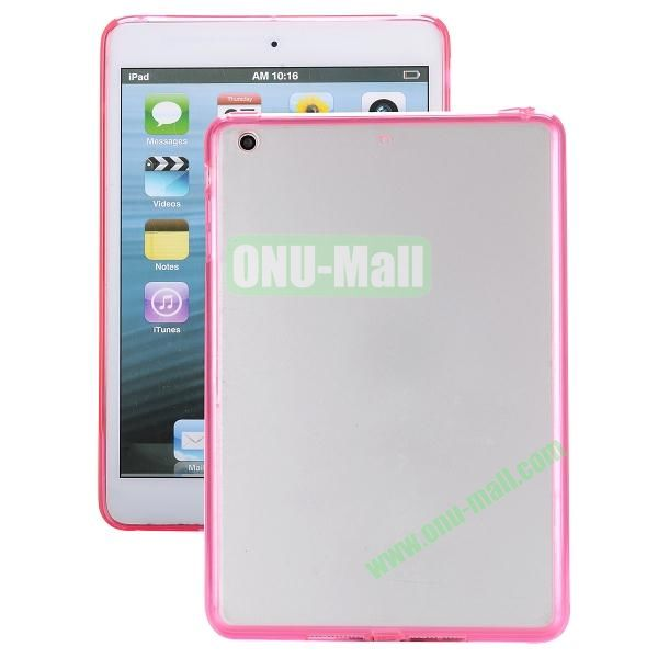 Ultrathin Transparent PC and TPU Hybrid Case Cover for iPad Air (Rose)